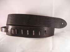 LEATHER BROWN ALLIGATOR BASS, ACOUSTIC GUITAR STRAP