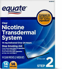 Equate Clear Nicotine Transdermal System Stop Smoking Aid Patches - Pack of 14,