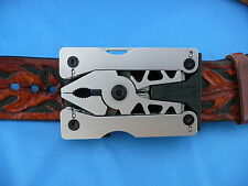 "SOG Sync II Multi-Tool Belt Buckle/Clip 12 Tools in One Up to 1 3/4"" Belt"