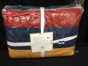 Pottery Barn Teen Boys Multi Color bed MVP Quilt  Comforter Cover Twin XL New