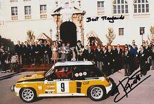 Jean Ragnotti foto firmada de mano 12x8 Renault Rally 9.