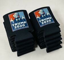 Trump 2020 KooZies Lot 10 Black Can Cooler Coozie