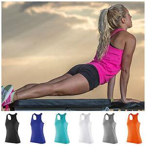 Womens Sports Gym Racer Back Running Vest Fitness Jogging Yoga Singlet Top
