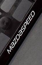 2 x Mazda Mazdaspeed Euro License Number Plate Frame Holder