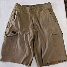 AEO American EAGLE Special Issue SPAE Beige COMBAT SHORTS Cutoff DISTRESSED 33