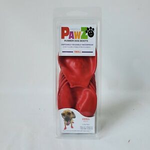 Protex Pawz Small 12 Red Rubber Dog Boots New in Package