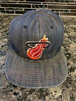 Mitchell & Ness Miami Heat NBA Basketball Denim Hat Adjustable Snapback