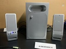 Altec Lansing Silver & Black Surround Sound Speakers Pre-Owned Tested Works Well