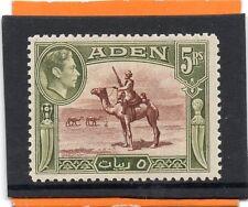 Aden GV1 1939 5r red-brn.olive-green sg 26 VLH.Mint