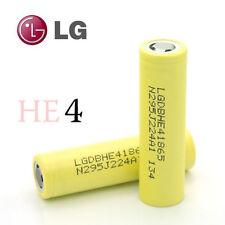 2 LG HE4 LGDBHE41865 18650 2500mAh 3.7V High Lithium Rechargeable Battery Li-ion