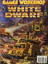 GAMES WORKSHOP WHITE DWARF MAGAZINE #181