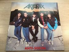 12 MAXI Island Records – 12 IS 409 Anthrax – Anti-Social UK Red Vinyl 1989