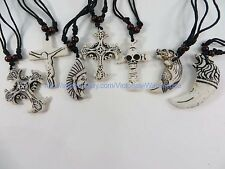 $0.75/p wholesale 50pcs hippie gothic rock punk pendant necklaces  jewelry lots