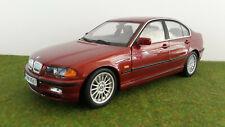 BMW 328i 3 series rouge métal 1/18 UT Models 80439418106 voiture miniature coll.