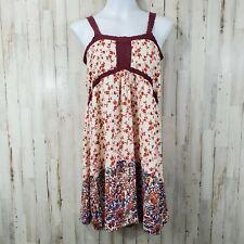 House of Harlow 1960 Womens Dress S Cream Red Floral Crochet Empire Waist D3