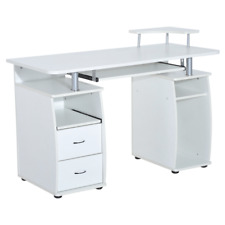 Home Office Desks Workstation Desk with Drawers Black And White Computer Tables