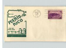 PUERTO RICO, U.S. Territory, 1937 canc. San Juan, Puerto Rico, FDC