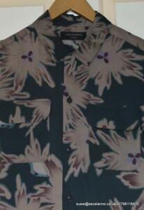 BNWT Mens All Saints Shonto Long Sleeve Shirt Size XS in Bottle Green £95