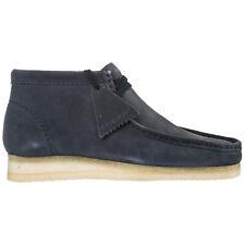 Clarks desert boots men wallabee WALLABEE29BCBLUE Dark Blue lagoon suede