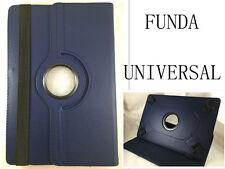 "FUNDA CARCASA + CRISTAL TABLET 10"" 10,1"" UNIVERSAL GIRATORIA AZUL MARINO"