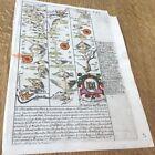 CARMARTHEN CARDIGAN ABERYSTWYTH OWEN BOWEN MAP DBL C1720 FROM BRITANNIA DEPICTA