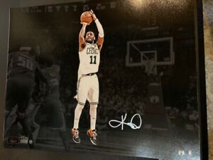 KYRIE IRVING SIGNED 16x20 COLOR PHOTO   STEINER LIMITED EDITION 34/111   NJ NETS