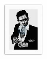JOHNNY CASH TATTOO INKED IKON BY W.MAGUIRE Canvas art Prints
