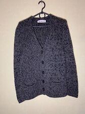 Iris Von Arnim Womens Cardigan Knitted Sweater Cashmere Gray Black  Size M Italy