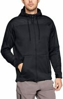 Under Armour Mens Size Large Coldgear Swacket Black Hoodie Jacket 1320710-001