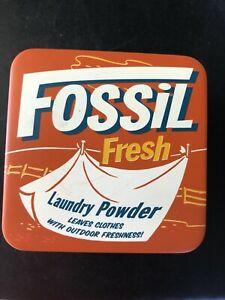 Fossil watch tin container, empty