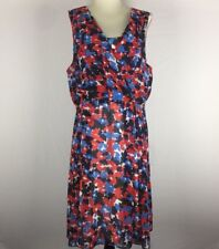 TRENT NATHAN Women's Size 18 Floral Print Sleeveless Dress Fully Lined