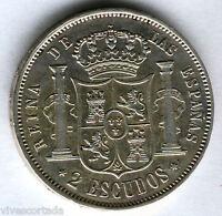 Isabel II 2 Escudos 1867 Madrid @@ Muy Bella @@@