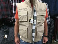 Poplin Fishing Vest Poly Shell Water Resistant 3XL-5XL