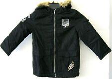 Epic Threads Boys Black Hooded Coat Jacket Size 6 Faux Fur Zip NEW KD1307