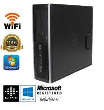 HP 8000 Elite Windows 10 Pro 240GB SSD Core 2 duo 3GHz, 8GB DVD Desktop PC WiFi