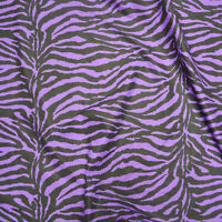 Purple / Black Poly Cotton Zebra Fabric 58 inches width sold BTY Home Decor