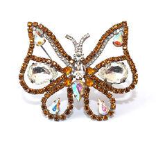 Schmetterling Strassbrosche - Multicolor - Unikat aus Gablonz/Böhmen - swa545