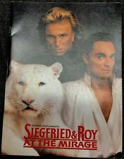 """Siegfried and Roy show program 8x11"""" at the Mirage Las Vegas"""