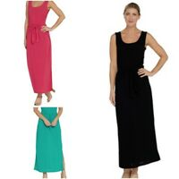 Attitudes by Renee Slvless Tie Front Knit Maxi Dress Pick Col & Sz XXS-M-M/T-XL