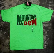MOUNTAIN DEW MEN'S MEDIUM NEON GREEN SHORT SLEEVE T SHIRT NEW!