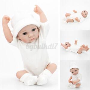 Handmade Newborn Lifelike Baby Boy Real Newborn Vinyl Silicone Doll 28CM A AU9