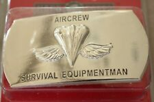 USN US NAVY USS SHIP SHORE AIRCREW SURVIVAL EQUIPMENT RATE SPECIALTY BELT BUCKLE