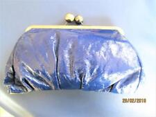 BEAUTIFUL ONNA EHRLICH LARGE VIBRANT SOFT BLUE LEATHER CLUTCH PURSE MEXICO