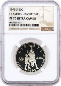 1995 S 50C XXVI Olympics Basketball Commemorative Clad Half Dollar NGC PF70 UC