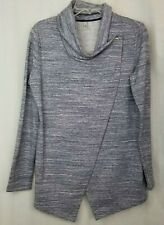 Danskin womens wrap top jacket size M blue fitness exercise active wear warm up