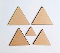 Holz Dreieck Wimpel Formen Laserschnitt MDF, Größe Optionen Basteln