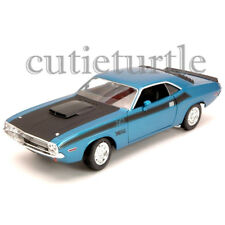 Welly 1970 Dodge Challenger T/A 1:24 Diecast Model Toy Car 28029D Blue