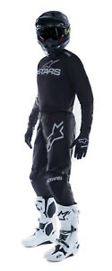 NEW ALPINESTARS 2021 FLUID GRAPHITE RACE KIT BLACK DARK GREY MX MOTOCROSS SUIT