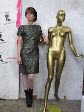 Kleid weißgold Damenkleid Glitter Silvester LUREX TRUEVINTAGE 70s party dress