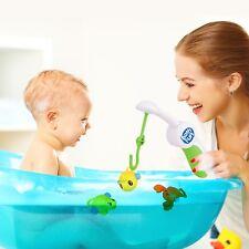 Baby Toddler Floating Fishing Rod Fish Crab Turtle Fun Bath Toys Kids Toddlers